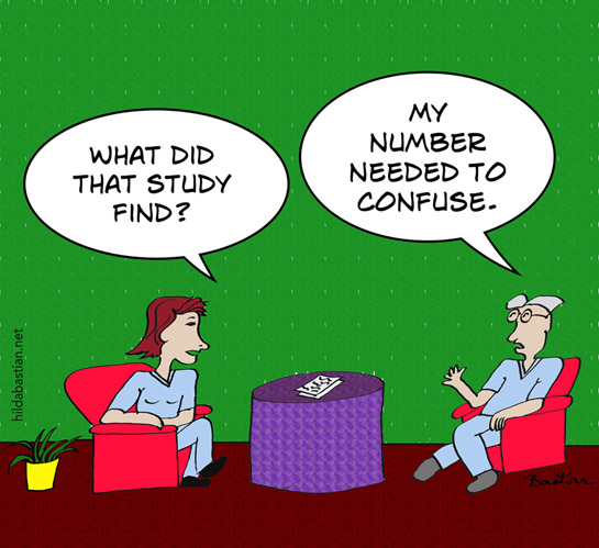 Cartoon of the number needed to confuse